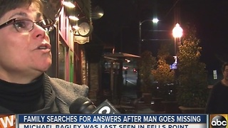 Man missing for a week, last seen in Fells Point - Video
