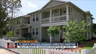 FL Senate expanding homestead exemption - Video