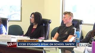CCSD students talk about school safety - Video