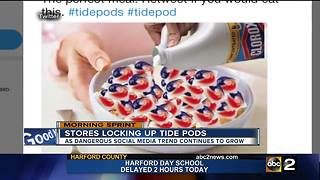 Tide Pod challenge drives stores to lock the detergent up - Video