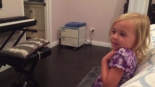 Little girl adorably confused by the rules of love - Video