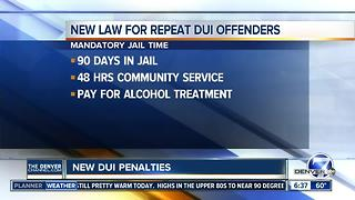 Penalties being raised for repeat DUI offenders