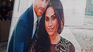 Giant Lego artwork of Harry and Meghan graces Windsor Station - Video