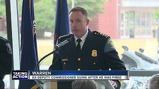 Federal lawsuit filed against Warren police by department commissioner on unpaid administrative leave