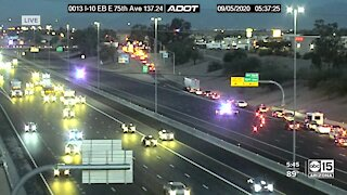 Shots fired on I-10 WB near 75th Ave.