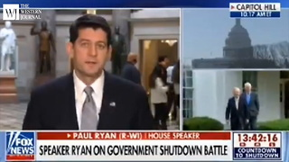 After CNN's Wolf Blitzer Blames Republicans for Gov't Shutdown, Paul Ryan Sets Him Straight (C) - Video