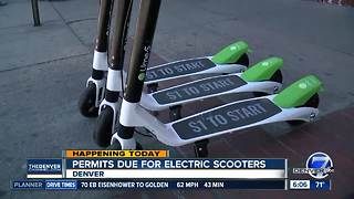 Permits due, new guidelines unveiled Friday for electric scooter companies in Denver - Video