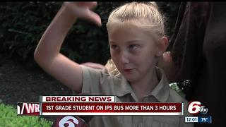 1st grade student on IPS school bus for more than 3 hours - Video