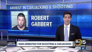 Armed carjacker shoots man, arrested after collision in Phoenix - Video