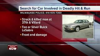 Milwaukee police looking for car in fatal hit-and-run crash