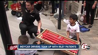 IndyCar drivers team up with Riley kids for a pit-stop challenge - Video