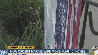HOA orders Marine wife to remove her flag - Video
