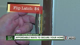 Affordable ways to make your home secure - Video