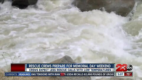 Rescue crews prepare for Memorial Day weekend