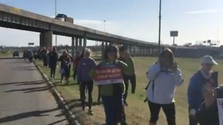 Teachers Start 100-Mile Protest March From Tulsa to Oklahoma City - Video
