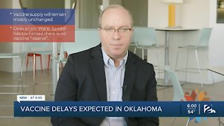 Vaccine delays expected in Oklahoma