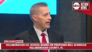 Hillsborough County School District Introduces proposed 2018-2019 bell schedule - Video
