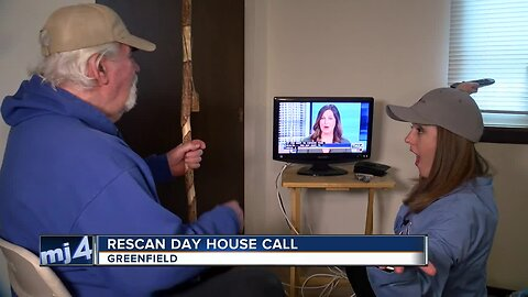 """TODAY'S TMJ4 makes house calls to help people """"rescan"""""""