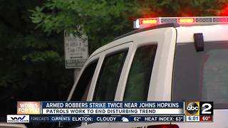 Johns Hopkins students, others robbed minutes apart on same Baltimore street
