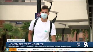 UArizona prepares for November testing blitz starting this week