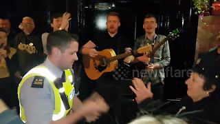 Irish police officer shows off his dance moves in music competition
