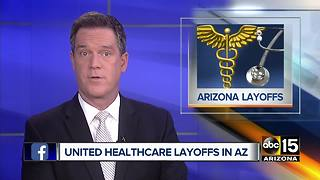 United Healthcare laying off more than 300 employees - Video