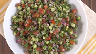 Mediterranean Cucumber Salad - Video