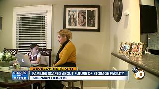 Families scared about future of homeless storage facility