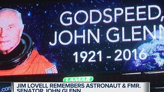 Jim Lovell remembers astronaut and former Sen. John Glenn - Video
