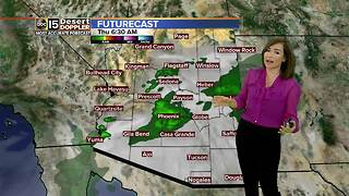 Small chance of rain in the Valley on Thursday - Video