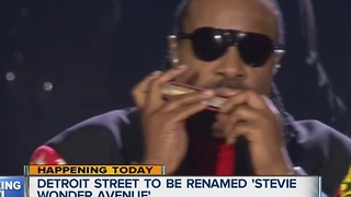 City of Detroit to unveil Stevie Wonder Avenue today - Video