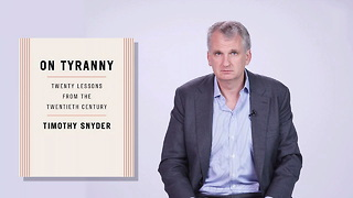 Historian Tim Snyder Warns Us About Donald Trump's Autocracy - Video
