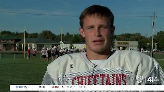 Tonganoxie's Tyler Bowden running at record pace after transfer