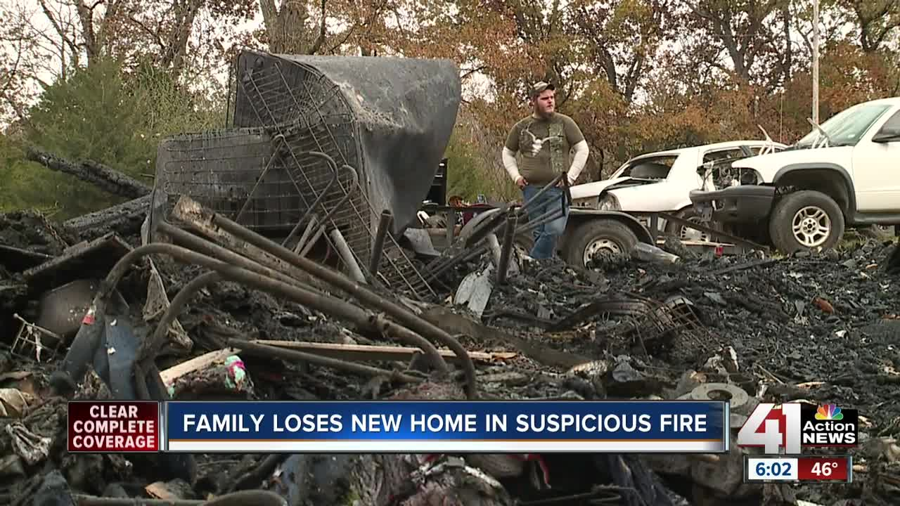 Suspicious house fire leaves family of 6 without home