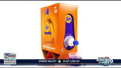 Eco friendly packaging for Tide laundry detergent