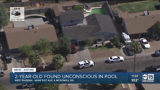 Two-year-old girl pulled from Phoenix pool