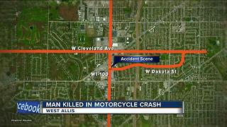 19-year-old man killed in motorcycle accident in West Allis - Video