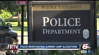 Purdue science camp shut down due to alleged sexual misconduct, misbehavior - Video