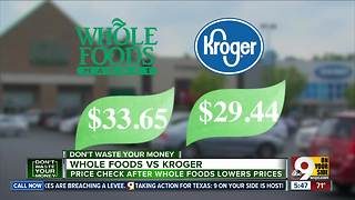 Amazon quickly narrows the price gap between Whole Foods and Kroger - Video