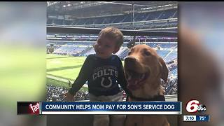 Community helps mother pay for son's service dog - Video