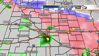 Freezing rain potential late tonight. - Video