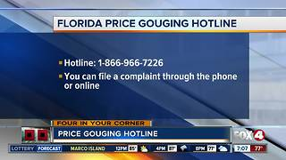 Hurricane Irma: price gouging hotline - Video