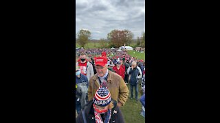 People lined up in PA for a recent Trump rally