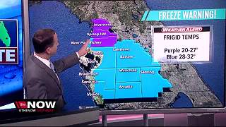 New Freeze Warnings issued for Tampa Bay - Video