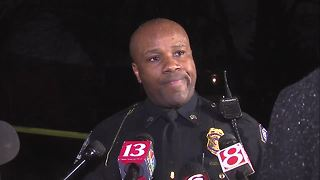 WATCH: IMPD officer gets emotional after 1-year-old shot and killed - Video