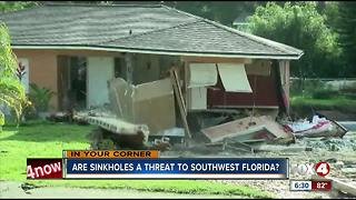 Are sinkholes a threat in Southwest Florida?