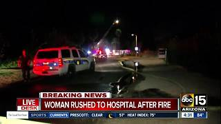 Woman, 91, injured in Phoenix house fire; caretaker also burned - Video
