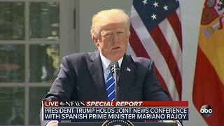 SPECIAL REPORT | President Trump joint press conference with Spanish PM - Video