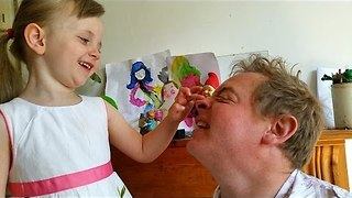 Dad and Daughter Write Cute Song About Nostrils - Video