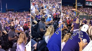 Hilarious moment pitch invader gets tackled after sprinting through baseball game - Video
